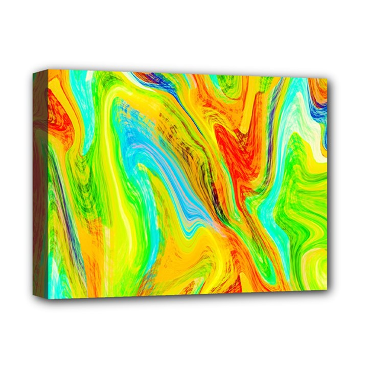 Happy Multicolor Painting Deluxe Canvas 16  x 12