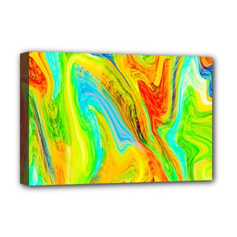 Happy Multicolor Painting Deluxe Canvas 18  x 12