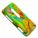 Happy Multicolor Painting HTC Evo 3D Hardshell Case  View5