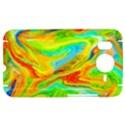 Happy Multicolor Painting HTC Desire HD Hardshell Case  View1