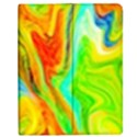 Happy Multicolor Painting Apple iPad 3/4 Flip Case View1