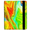 Happy Multicolor Painting Apple iPad 3/4 Flip Case View2