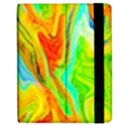 Happy Multicolor Painting Apple iPad Mini Flip Case View2