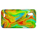 Happy Multicolor Painting HTC Desire VT (T328T) Hardshell Case View1