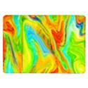 Happy Multicolor Painting Samsung Galaxy Tab 10.1  P7500 Flip Case View1