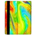 Happy Multicolor Painting Samsung Galaxy Tab 10.1  P7500 Flip Case View2