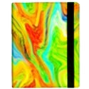 Happy Multicolor Painting Samsung Galaxy Tab 10.1  P7500 Flip Case View3