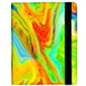 Happy Multicolor Painting Samsung Galaxy Tab 8.9  P7300 Flip Case View2