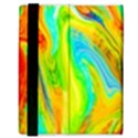 Happy Multicolor Painting Samsung Galaxy Tab 8.9  P7300 Flip Case View3