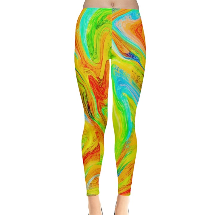 Happy Multicolor Painting Leggings