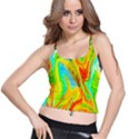 Happy Multicolor Painting Spaghetti Strap Bra Top View1
