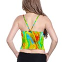Happy Multicolor Painting Spaghetti Strap Bra Top View2