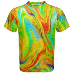 Happy Multicolor Painting Men s Cotton Tee