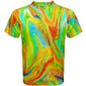 Happy Multicolor Painting Men s Cotton Tee View1