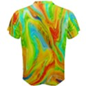 Happy Multicolor Painting Men s Cotton Tee View2