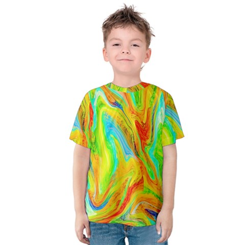 Happy Multicolor Painting Kids  Cotton Tee