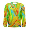 Happy Multicolor Painting Men s Long Sleeve Tee View1