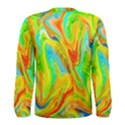 Happy Multicolor Painting Men s Long Sleeve Tee View2