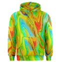 Happy Multicolor Painting Men s Pullover Hoodie View1