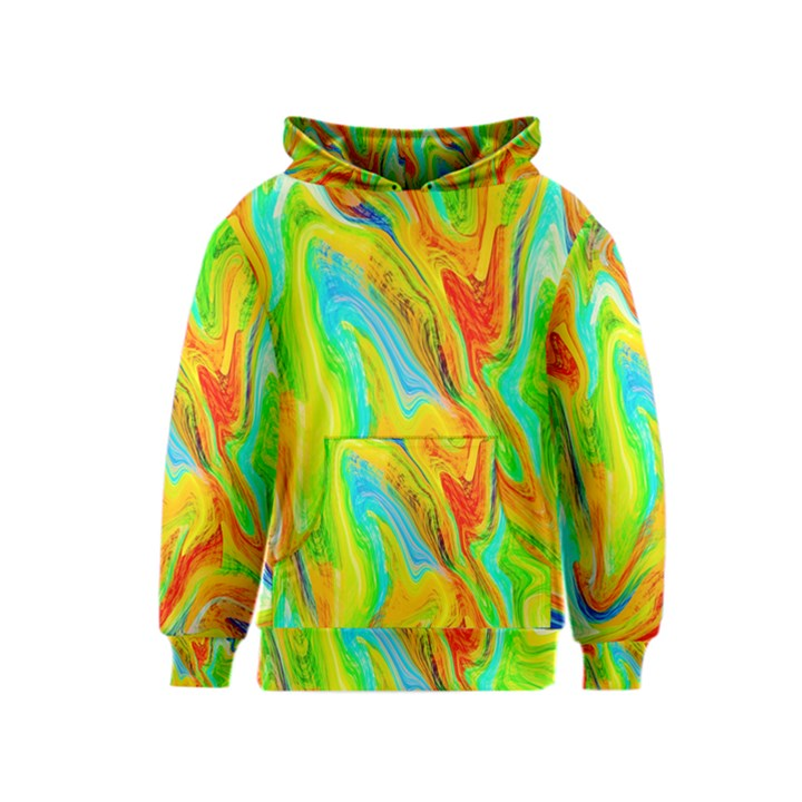 Happy Multicolor Painting Kids  Pullover Hoodie