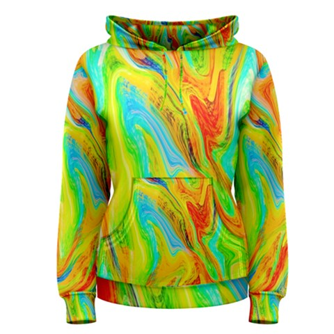 Happy Multicolor Painting Women s Pullover Hoodie