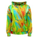 Happy Multicolor Painting Women s Pullover Hoodie View1