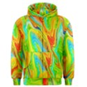 Happy Multicolor Painting Men s Zipper Hoodie View1