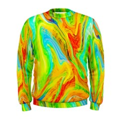 Happy Multicolor Painting Men s Sweatshirt