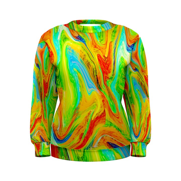 Happy Multicolor Painting Women s Sweatshirt