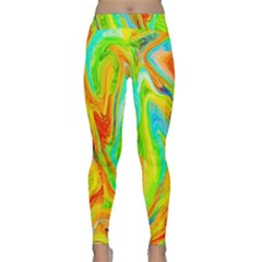 Happy Multicolor Painting Yoga Leggings