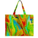 Happy Multicolor Painting Zipper Mini Tote Bag View1