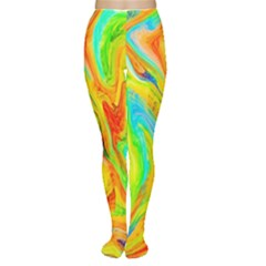Happy Multicolor Painting Women s Tights