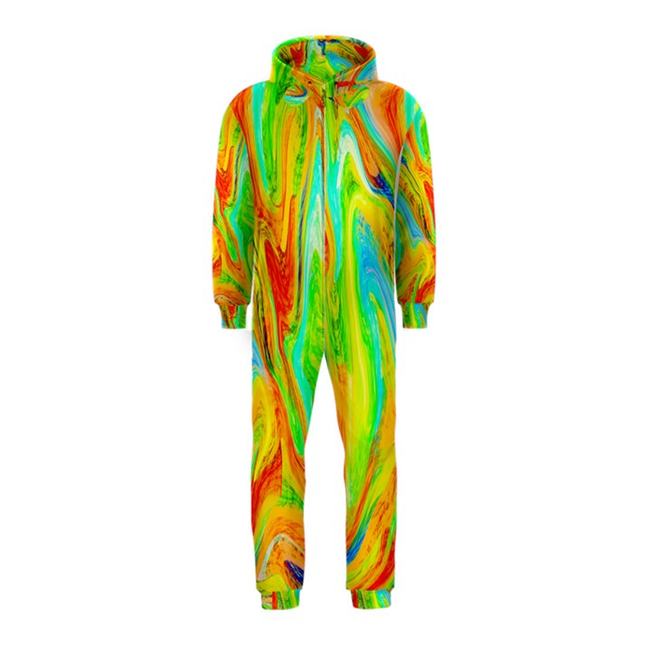 Happy Multicolor Painting Hooded Jumpsuit (Kids)
