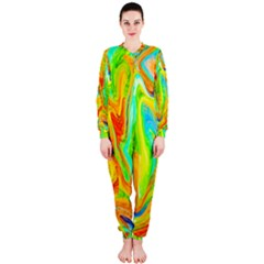 Happy Multicolor Painting Onepiece Jumpsuit (ladies)