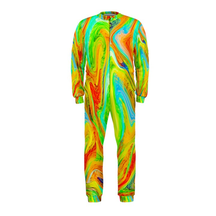 Happy Multicolor Painting OnePiece Jumpsuit (Kids)