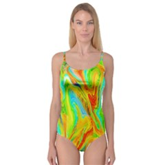 Happy Multicolor Painting Camisole Leotard