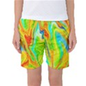 Happy Multicolor Painting Women s Basketball Shorts View1