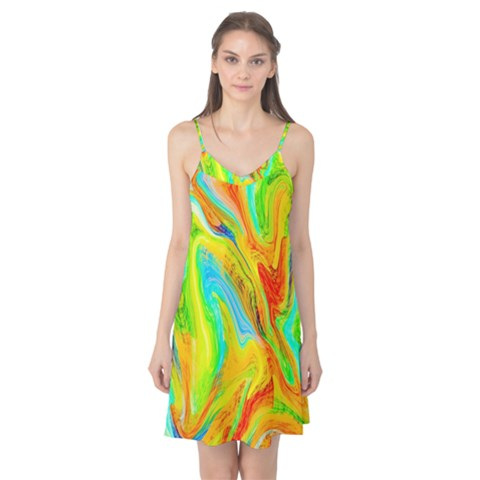 Happy Multicolor Painting Camis Nightgown