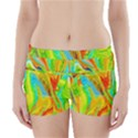 Happy Multicolor Painting Boyleg Bikini Wrap Bottoms View1