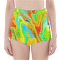 Happy Multicolor Painting High-Waisted Bikini Bottoms View1