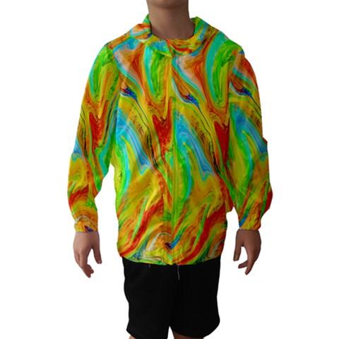 Happy Multicolor Painting Hooded Wind Breaker (Kids)