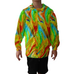 Happy Multicolor Painting Hooded Wind Breaker (kids)