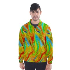 Happy Multicolor Painting Wind Breaker (Men)