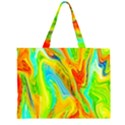 Happy Multicolor Painting Large Tote Bag View1