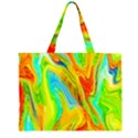 Happy Multicolor Painting Large Tote Bag View2