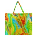Happy Multicolor Painting Zipper Large Tote Bag View1