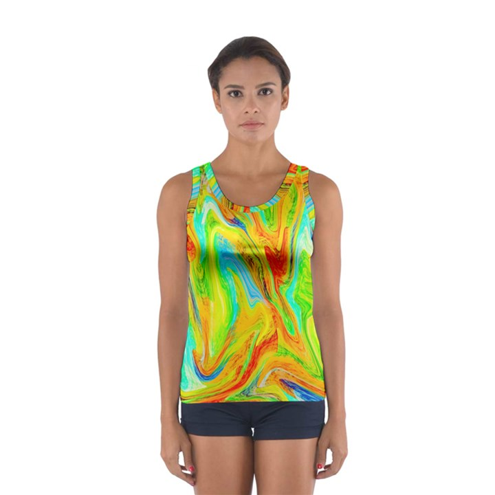 Happy Multicolor Painting Women s Sport Tank Top