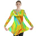 Happy Multicolor Painting Long Sleeve Tunic  View1