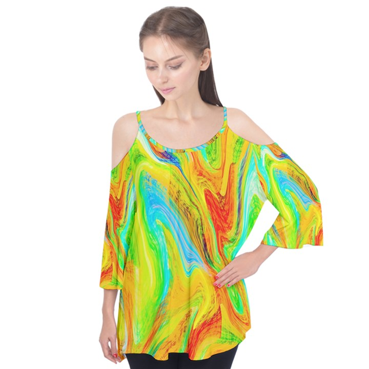 Happy Multicolor Painting Flutter Tees