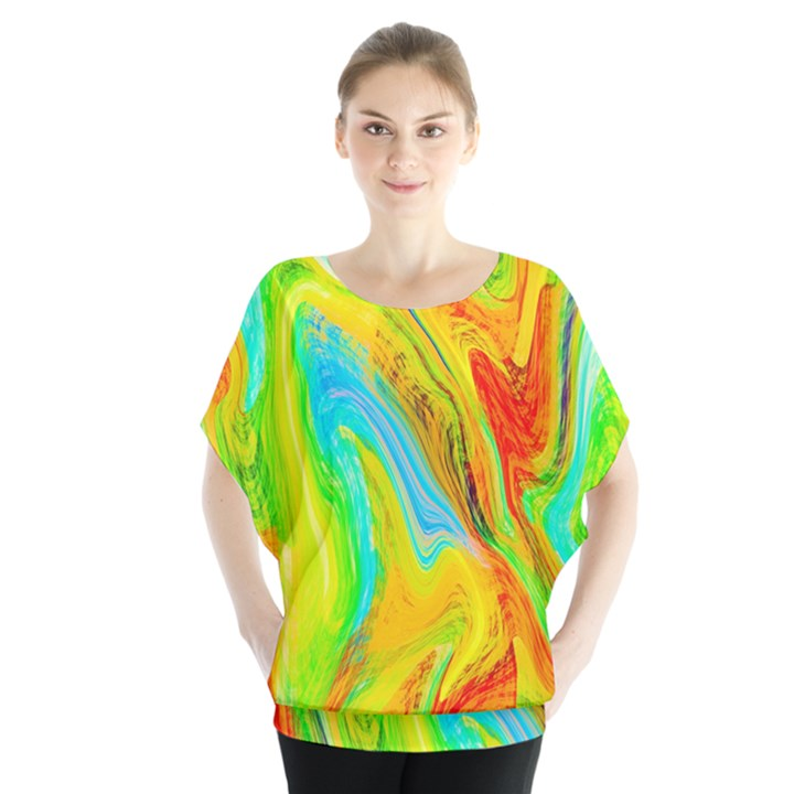 Happy Multicolor Painting Blouse